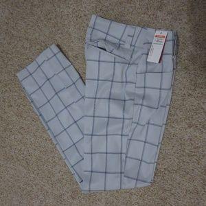New ANTIGUA Desert Dry Plaid Gold Pants Grey Blue